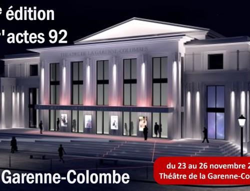 3ème édition Entr'Acte 92 à la Garenne-Colombe du 23 au 26 novembre 2017
