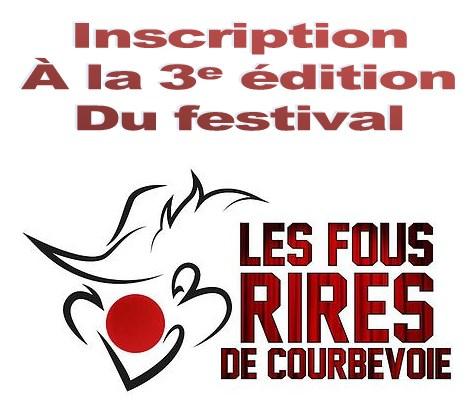 """Inscription """"Les Fous rires de Courbevoie 2018"""""""