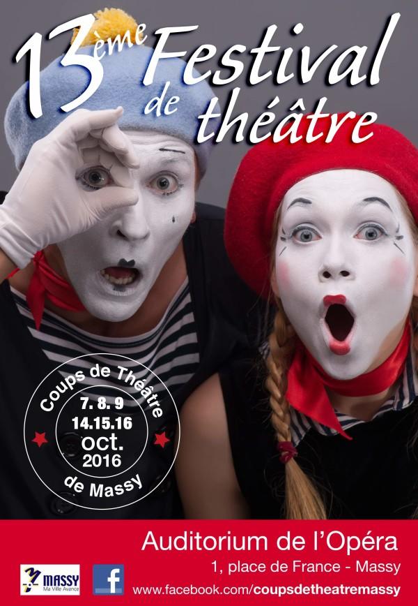 Festival de théâtre de Massy 2016 ... C'est parti