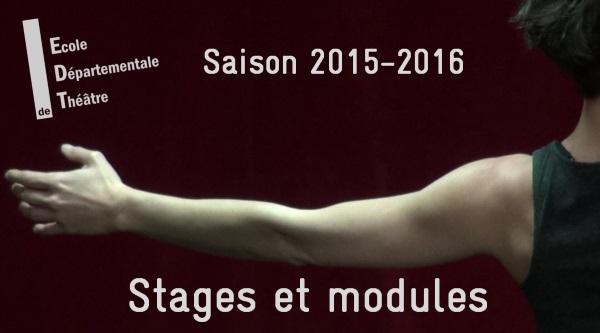 EDT 91 - Stages et Modules thématiques 2015-2016