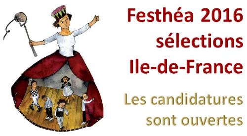 FESTHEA 2016 - Sélections théâtrales Ile-de-France