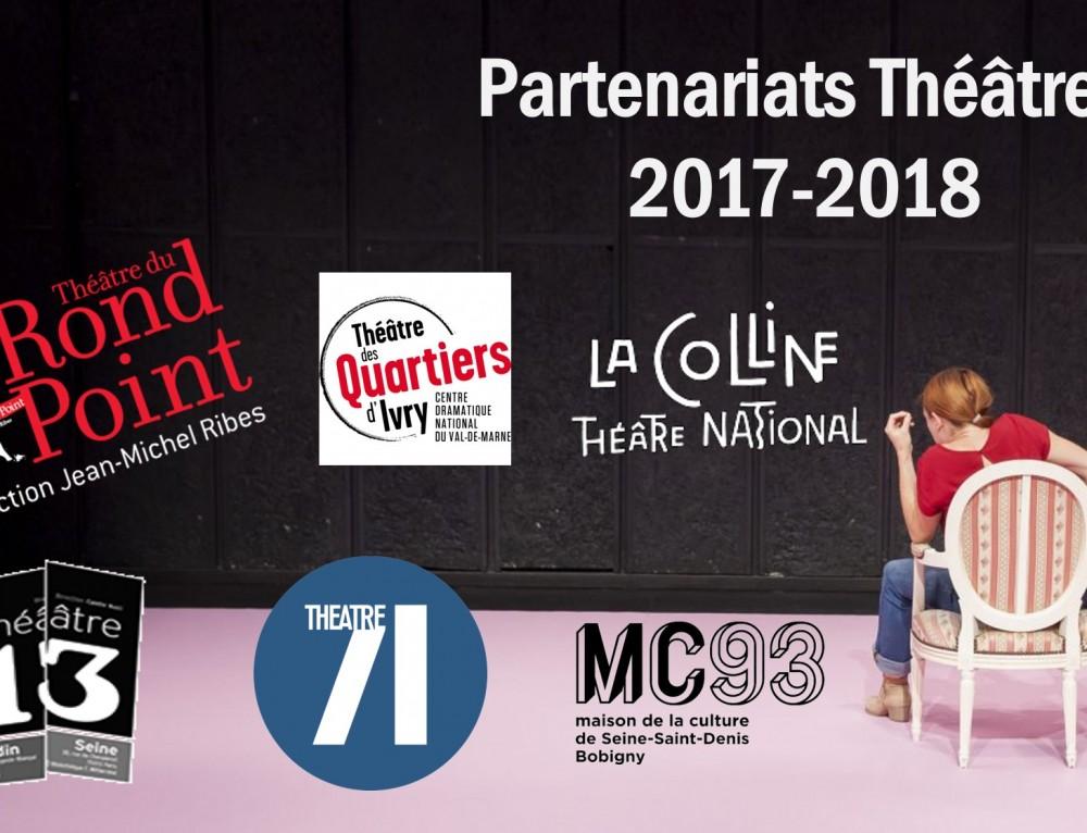 Partenariats théâtres 2017-2018
