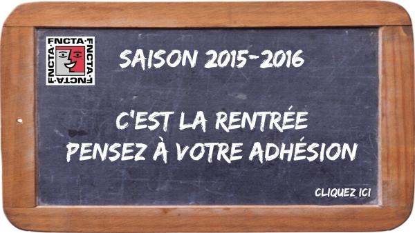 Adhésion 2015-2016