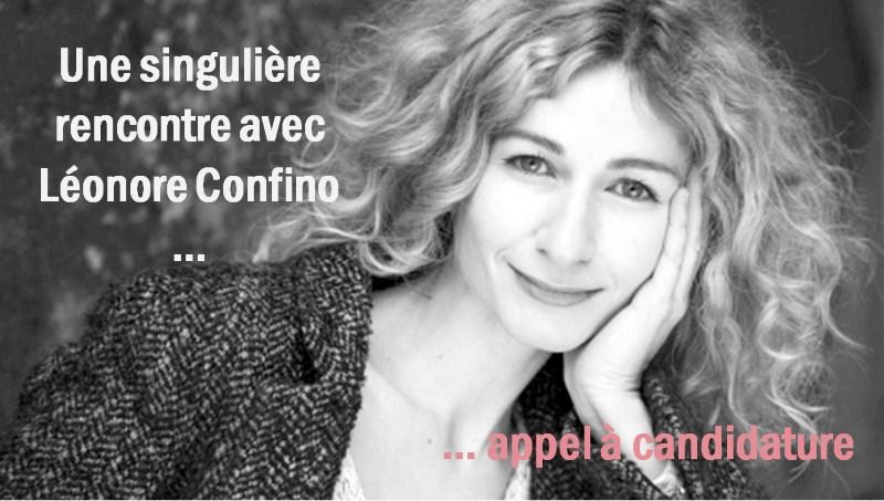 Une Singulière Rencontre 2018 autour de Léonore Confino – Appel à candidature