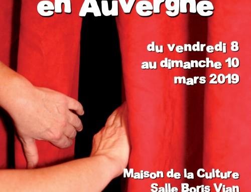 Appel à spectacle. Fête du Théâtre en Auvergne 2019