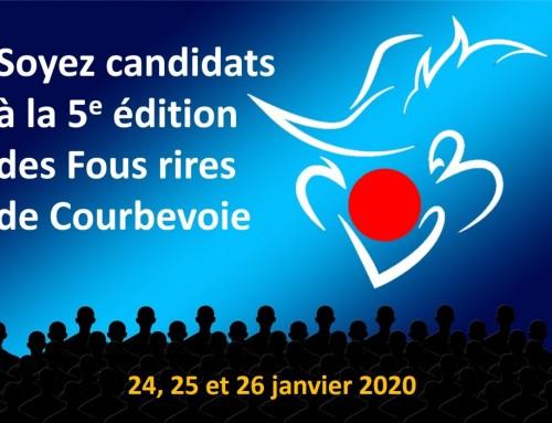Soyez candidats à la 5e édition des Fous rires de Courbevoie