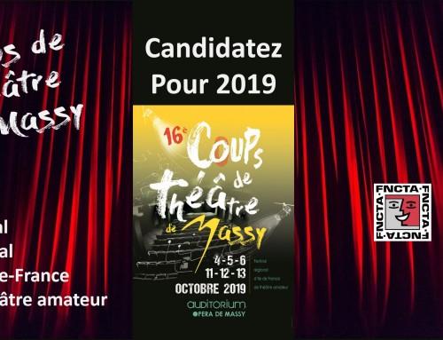 Candidatez pour les 16e Coups de Théâtre de Massy