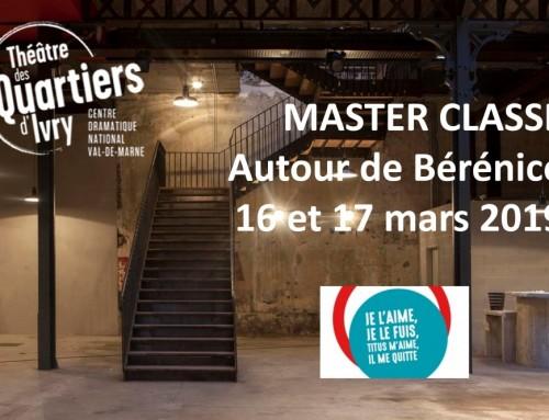 Master Classe au TQI – Bérénice